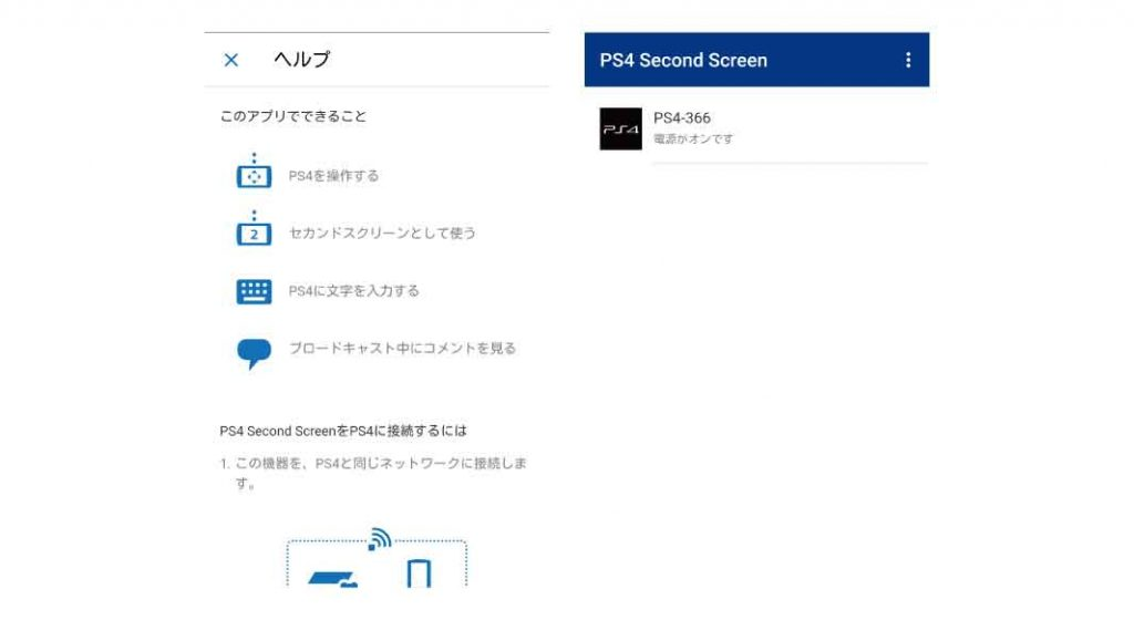 『PS4 Second Screen』ヘルプ