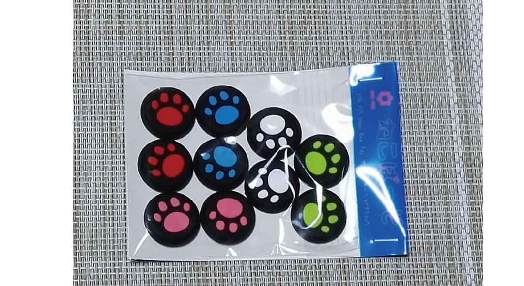 猫の肉球がキュート!PS4コントローラー スティック シリコンカバー