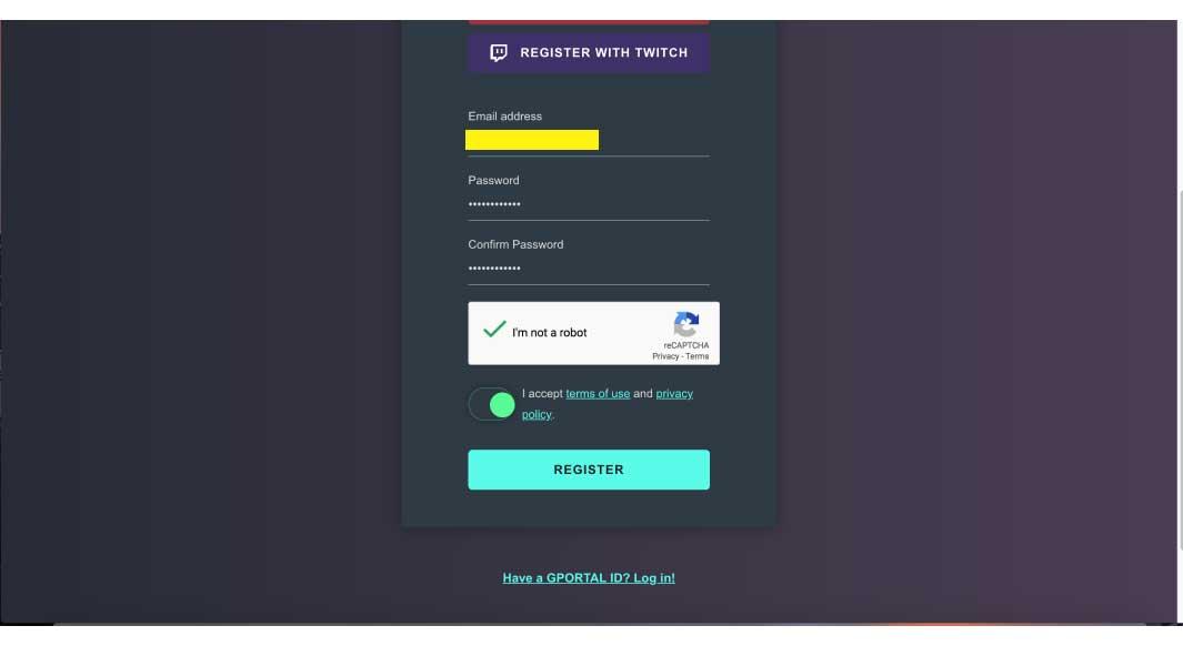 『G-Portal.com』に登録