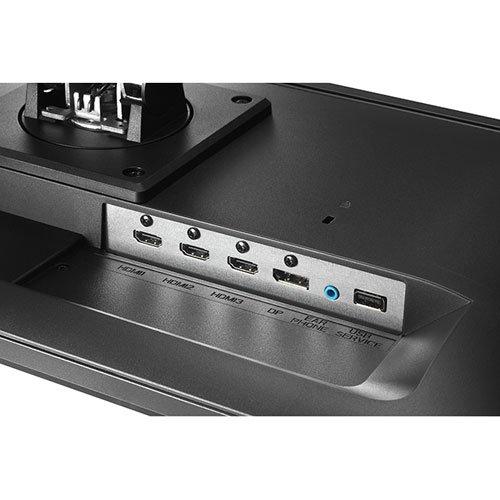 HDMI×3 + DisplayPort + ヘッドフォン出力 + ステレオスピーカー