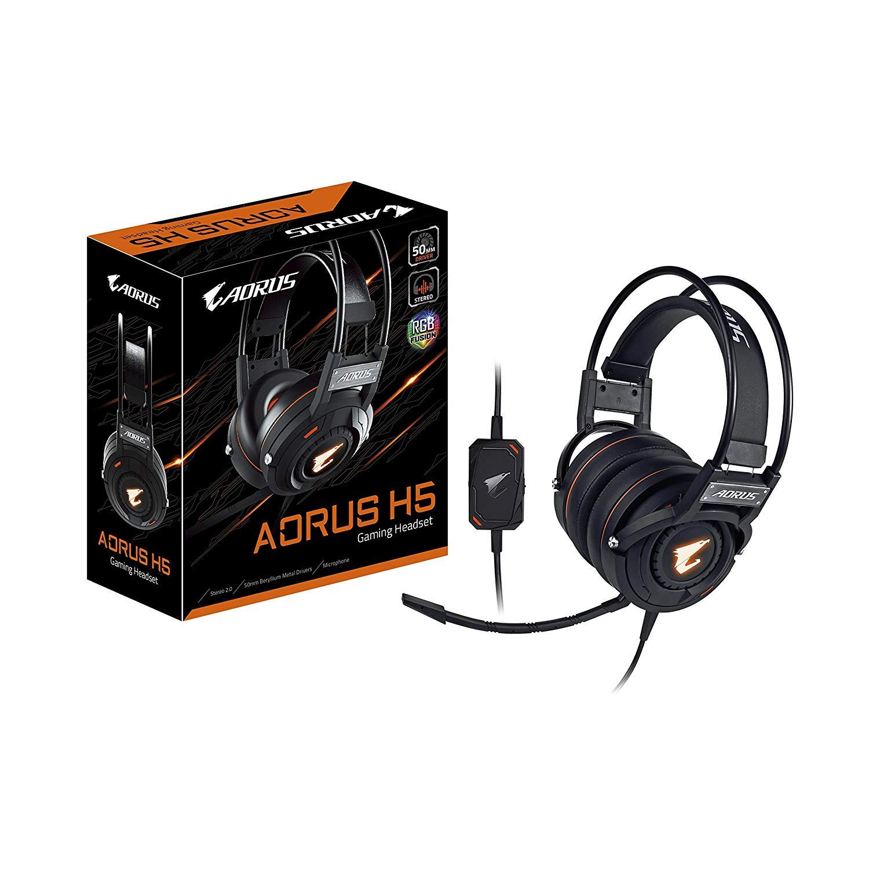 クリアな音質ベリリウムドライバーヘッドセットGIGABYTE『AORUS H5』
