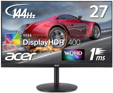 Acer WQHD/144Hz ゲーミングモニター